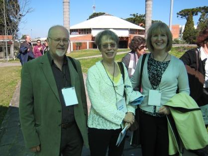 Brian Street (University of London), Carolyn Miller (NC State), and Amy Devitt (University of Kansas) at the fifth bi-annual Simpósio Internacional de Estudos de Gêneros Textuais, or International Symposium on Genre Studies (SIGET). The event took place at the University of Caxias do Sul, in Rio Grande do Sul, Brazil, August 11-14, 2009.