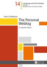 From the Bibliography: The Personal Weblog: A Linguistic History