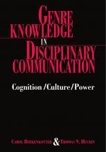 From the Bibliography: Genre Knowledge in Disciplinary Communication (1995) by Berkenkotter and Huckin